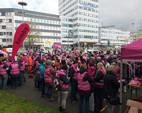 komba Kreisverband Gütersloh zum Warnstreik in Bochum am 27.04.2016